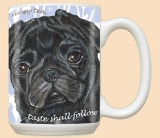 Black Pug Breed Mugs