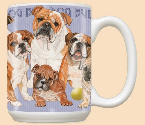 Bulldog Family Ceramic Mugs