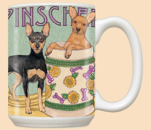 Miniature Pinscher Mugs (Set of 4)