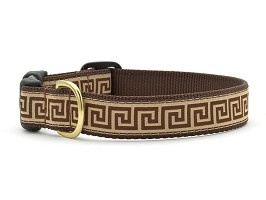 Up Country Greek Key Dog Collar